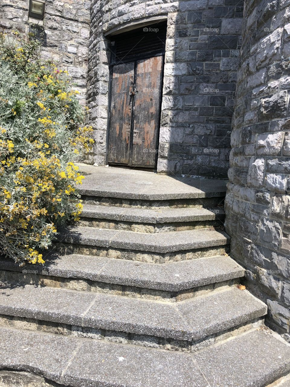 Some nice steps, but a shame about the rusty looking and tatty door.