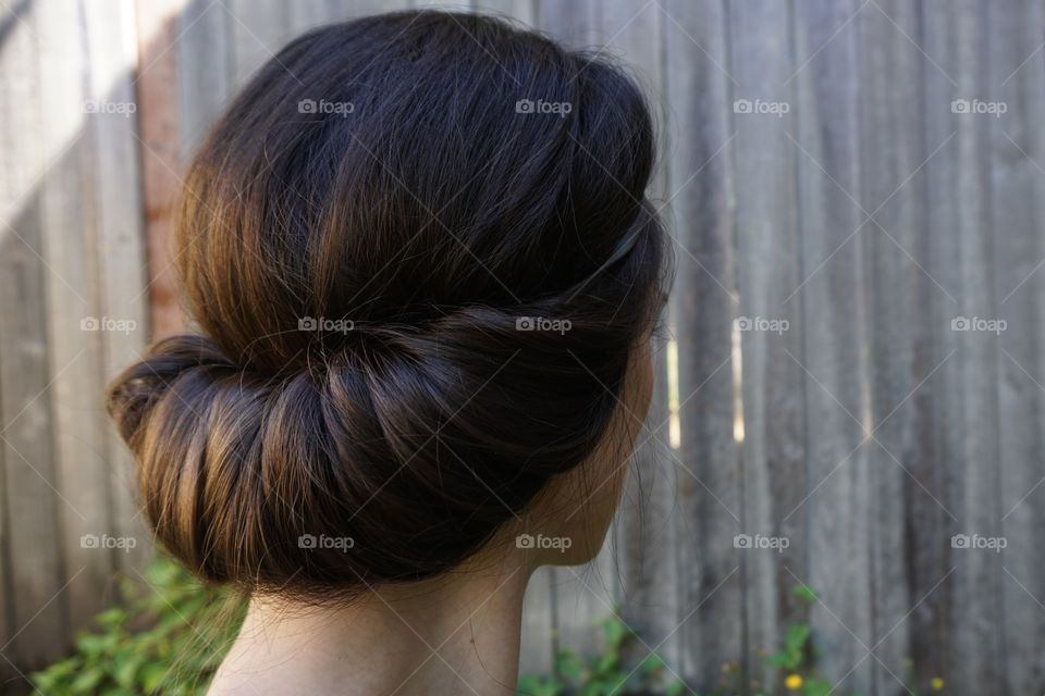 Hairbrain. The simplest, most elegant way possible to do one's hair.