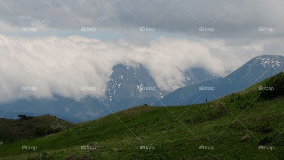 Cloud Crash. Clouds flow over the Rocky Mountains in Montana