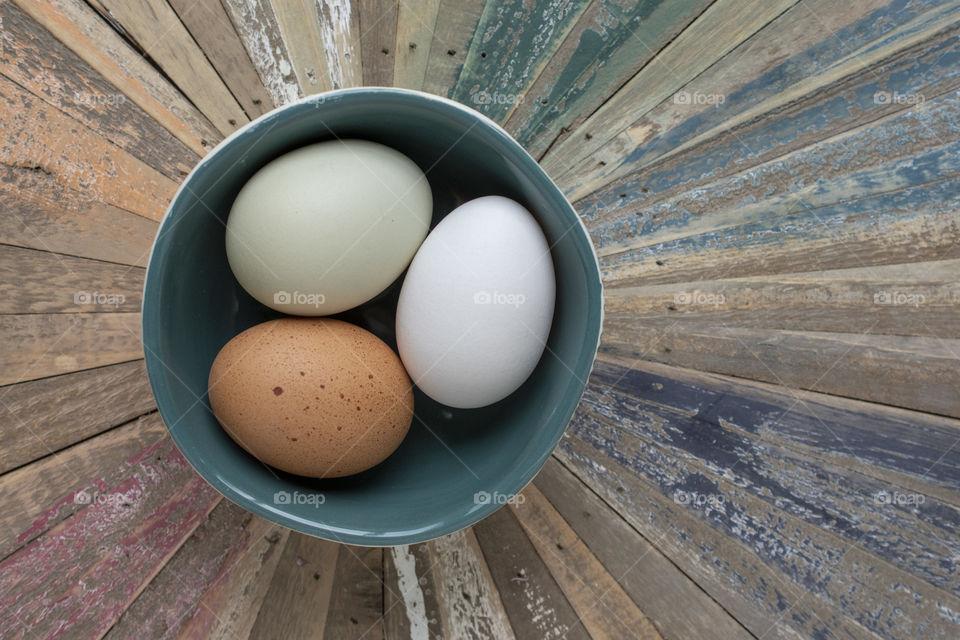 A Bowl of Farm Fresh Heirloom Eggs