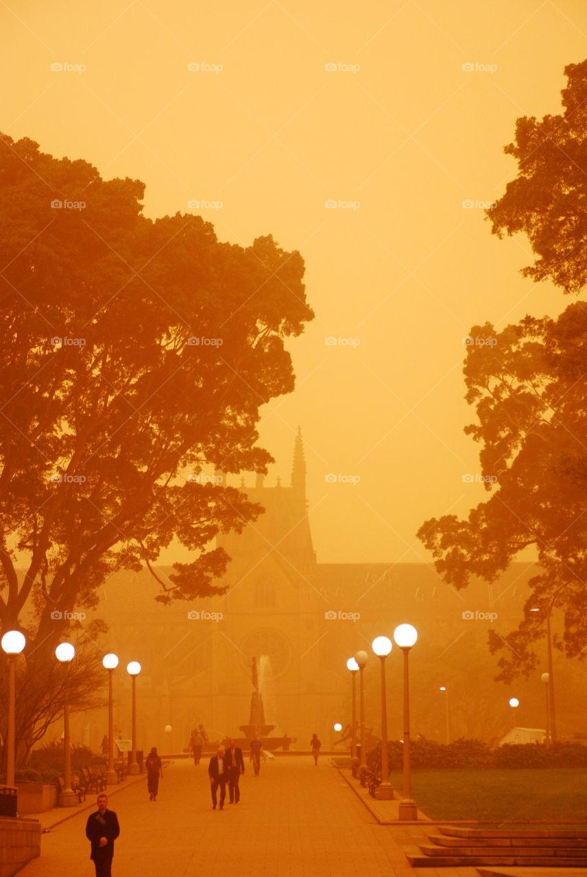 red orange park storm by paullj