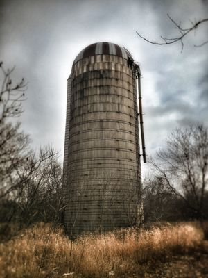 Low angle view of a silo