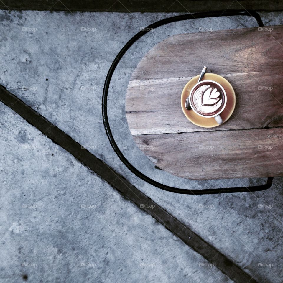 Elevated view of coffee