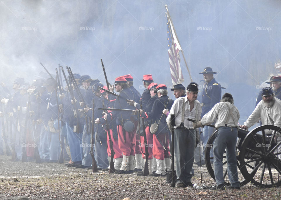 Civil War reenactment Mt Dora Florida