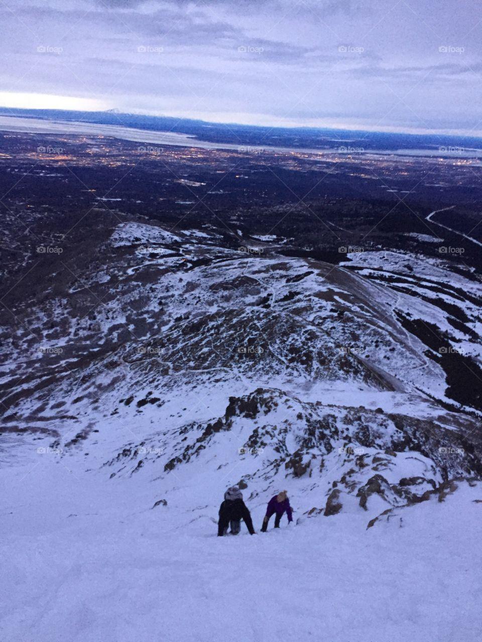 Mountain. Flatop mountain in Alaska