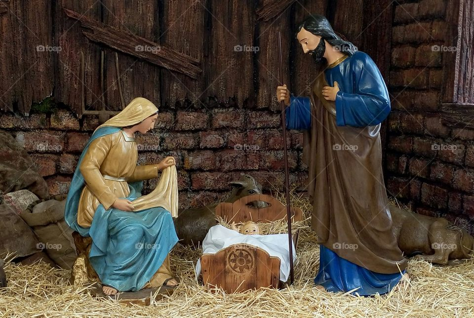Nativity scen