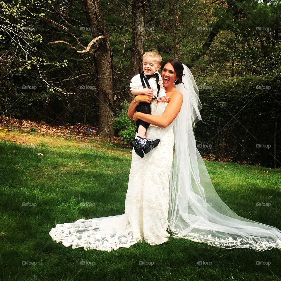 Ring bearer and bride!