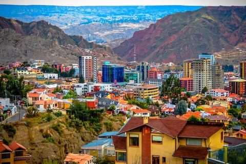 The Zona Sur area of La Paz, Bolivia