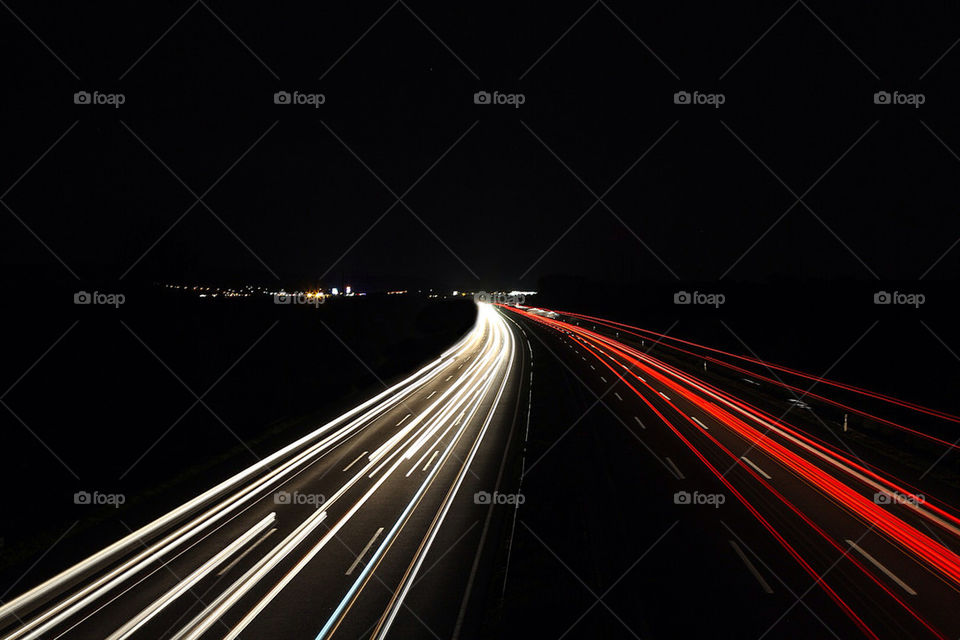 light road lights nacht by dryair