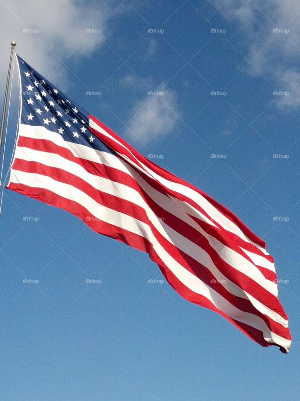USA Flag. I love this Flag I travel with work I try to catch a picture of the flag in every Town I work in