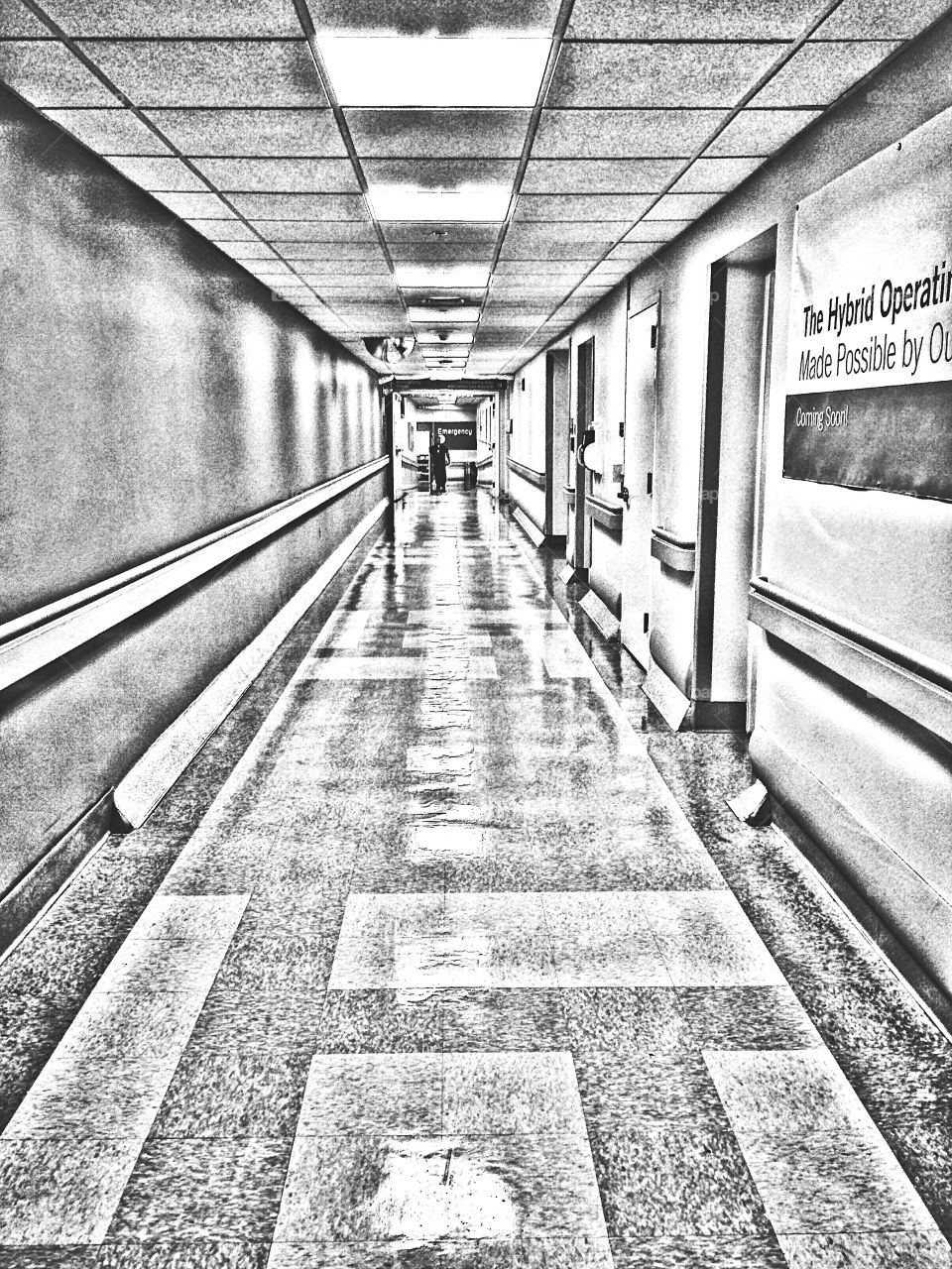 At the hospital...