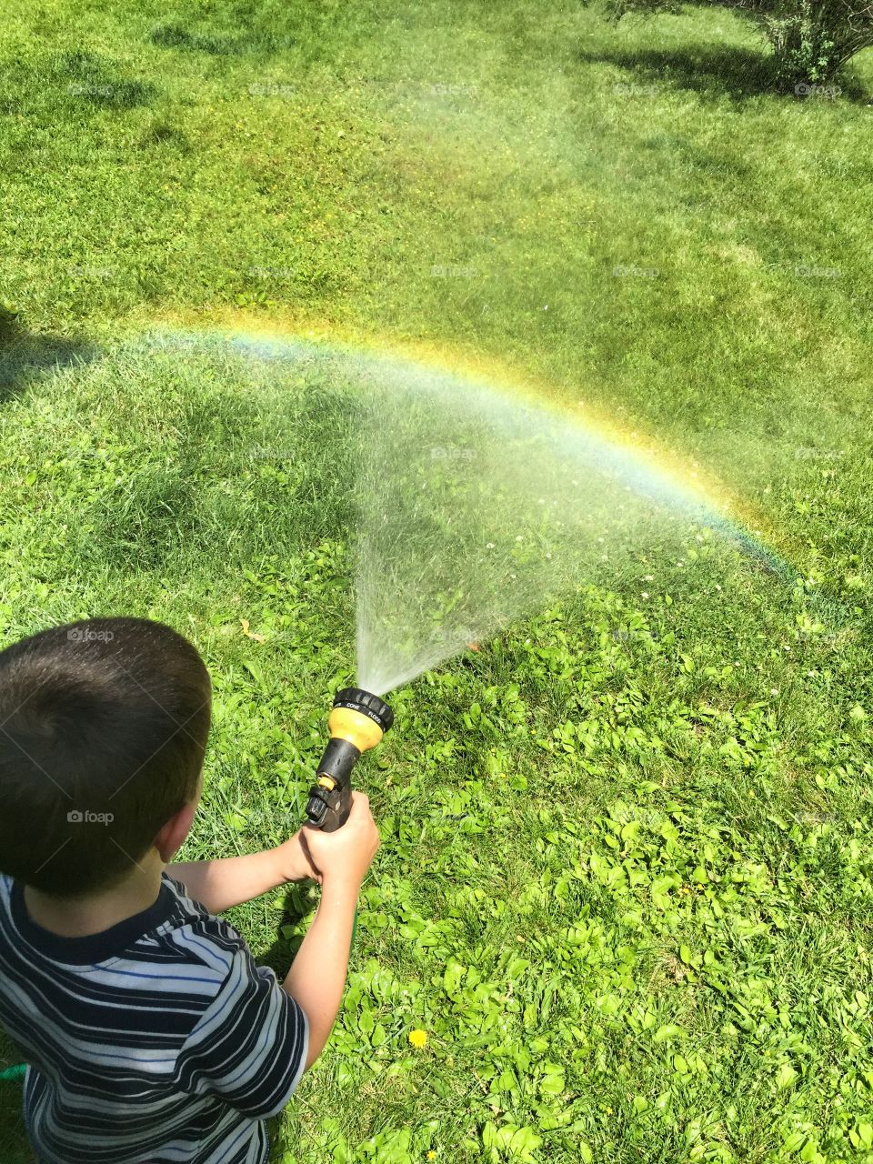 Making Rainbows with the Hose