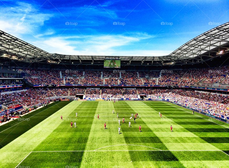 Football Stadium . Red Bull's Arena, New Jersey, USA