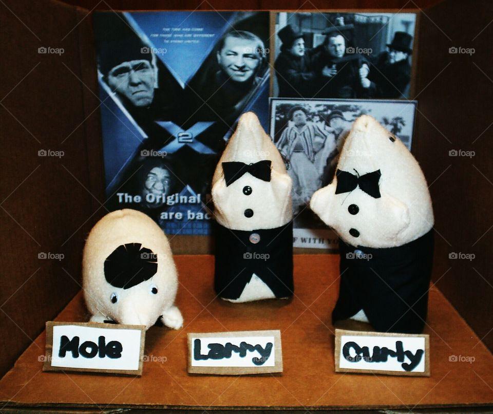 mole, Larry,  Curly