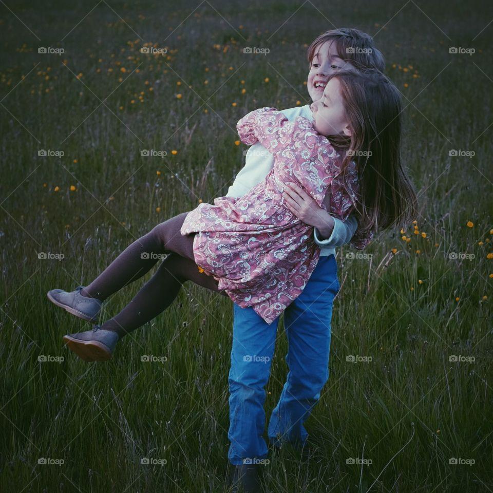 Child, Girl, Fun, Grass, Love