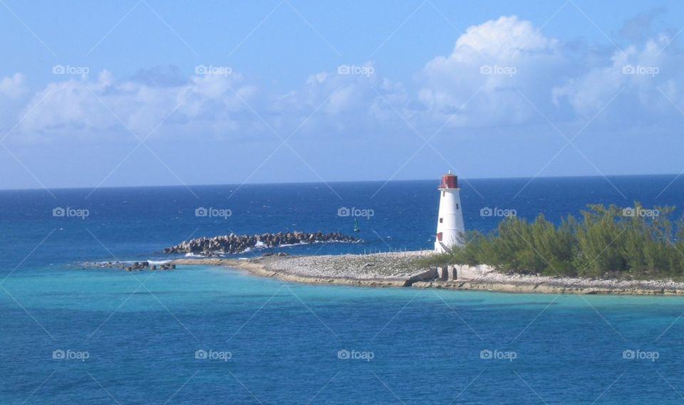 Lighthouse at Nassau Bahamas