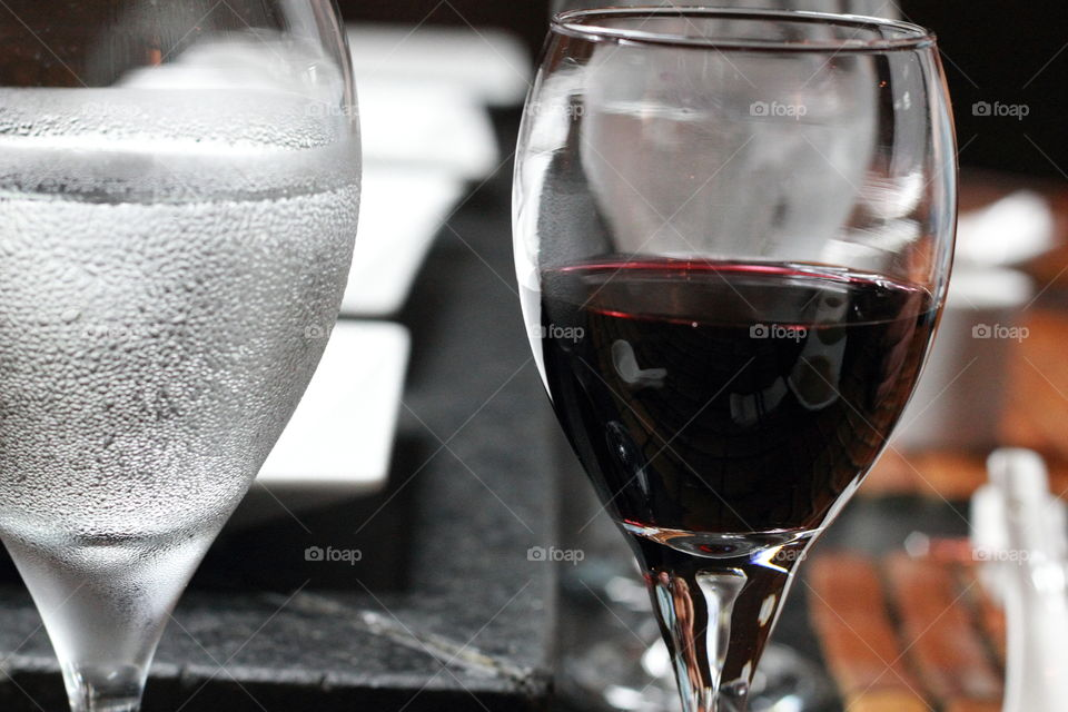 Wine and Water in the glass