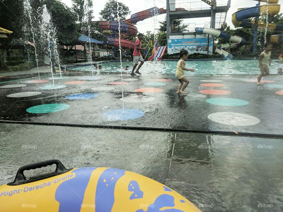 recreation in the water park