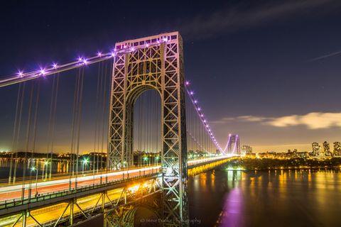 George Washington Bridge at night