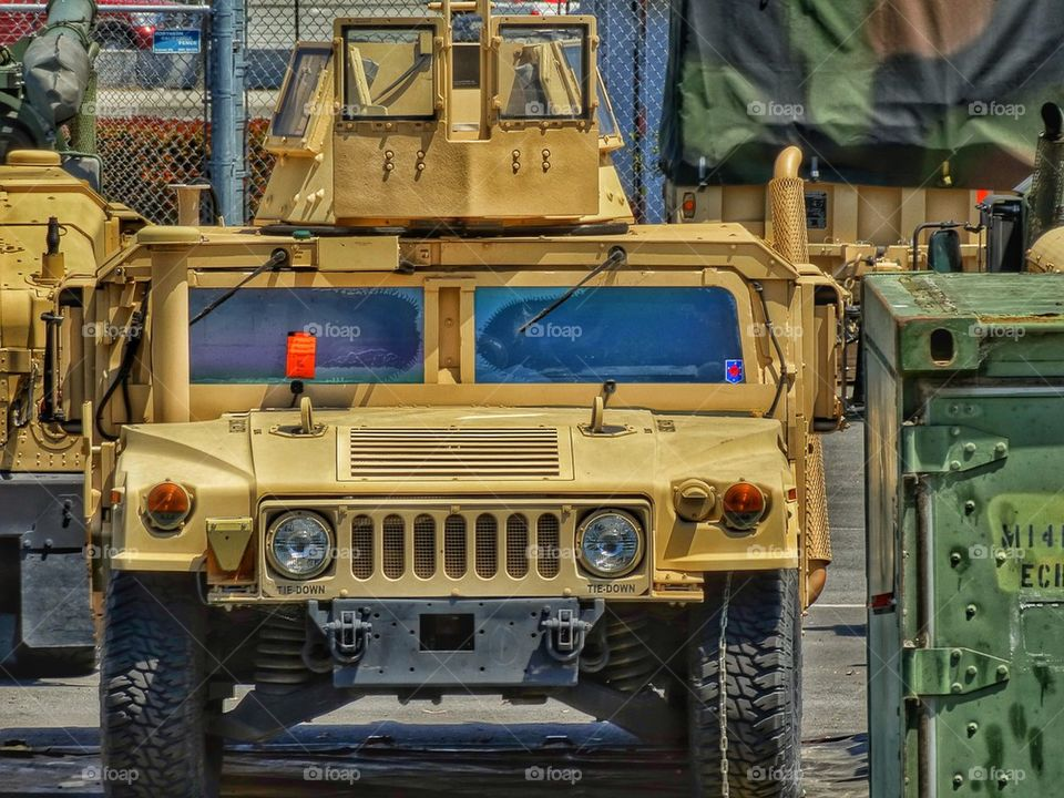 U.S. Military Humvee vehicle