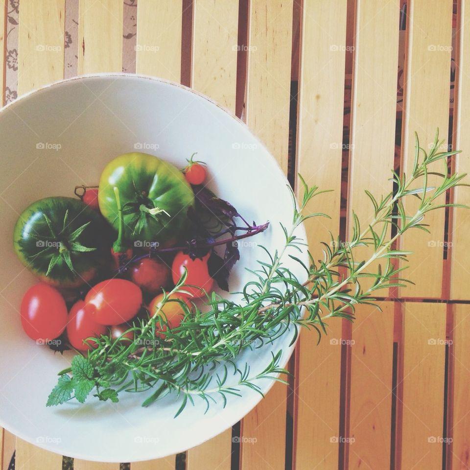 Fresg grown Vegetables