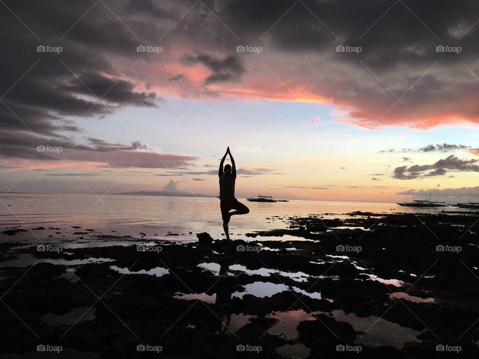 Sunset on Philippines