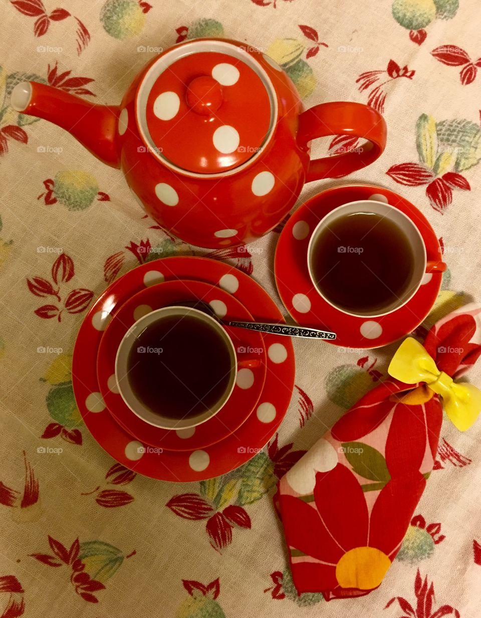 Retro, vintage tea set.