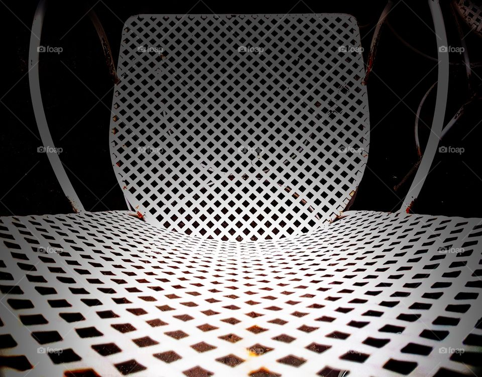 Steel chair.