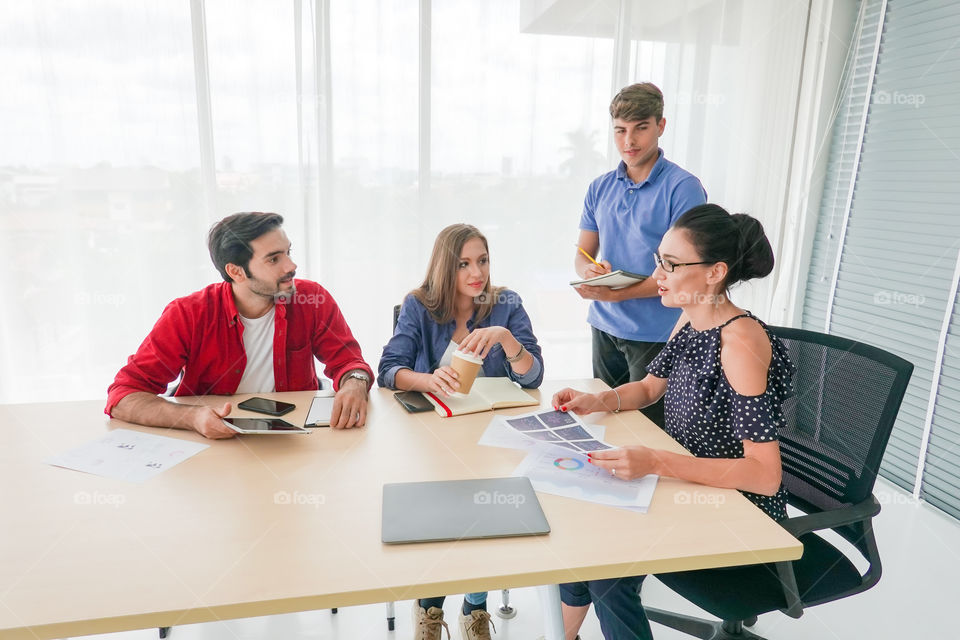 business people discuss on meeting in office