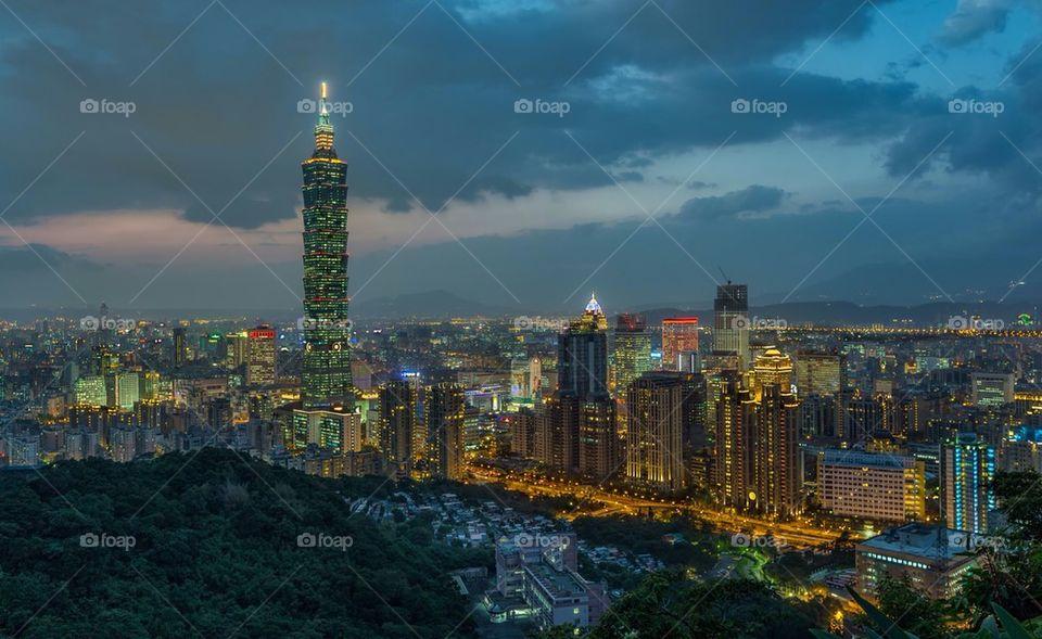 View of Taipei cityscape, Taiwan, Asia