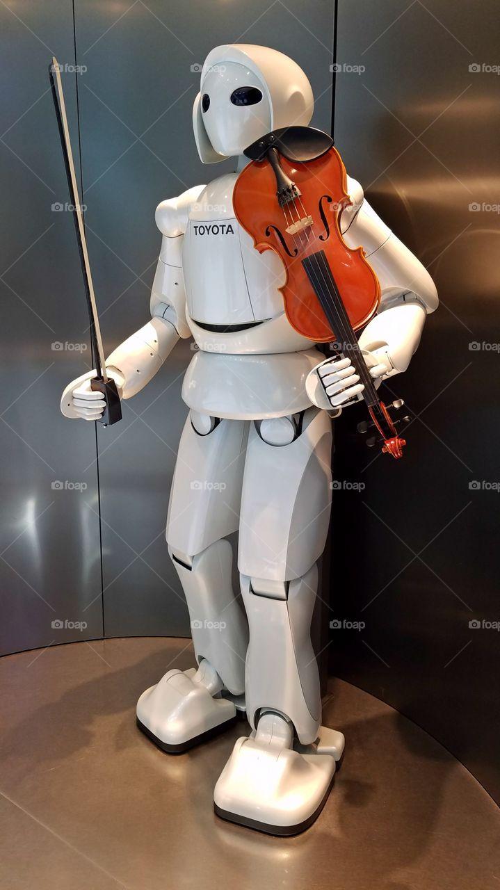 Violin playing robot