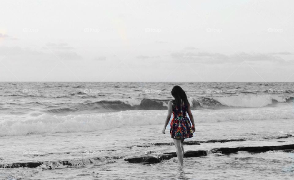 Walking at the water