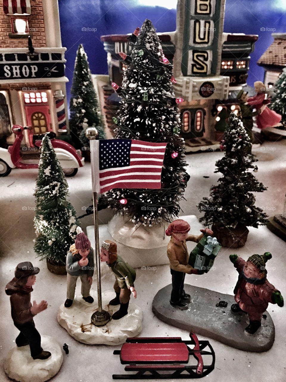A Christmas store miniature.