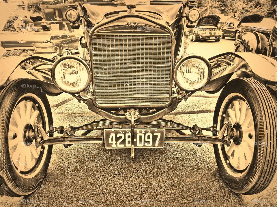 vintage. vintage car at car show
