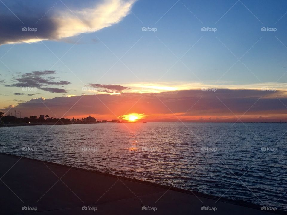 Sunset over LakePontchartrain