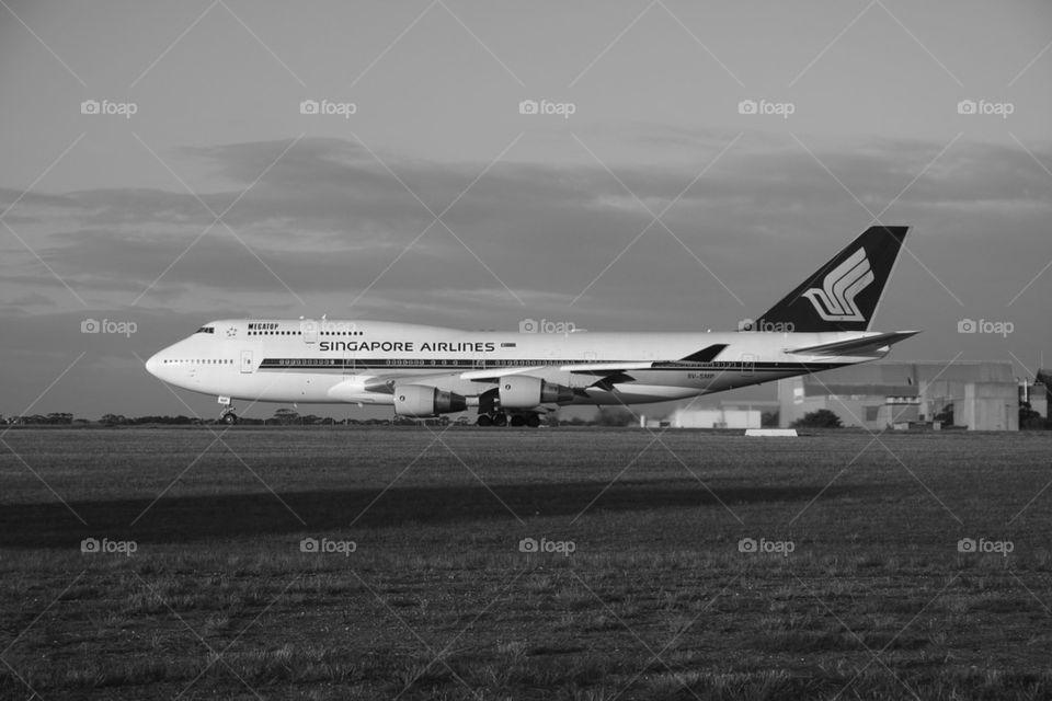 SINGAPORE AIRLINES SQ B747-400 MELBOURNE AUSTRALIA