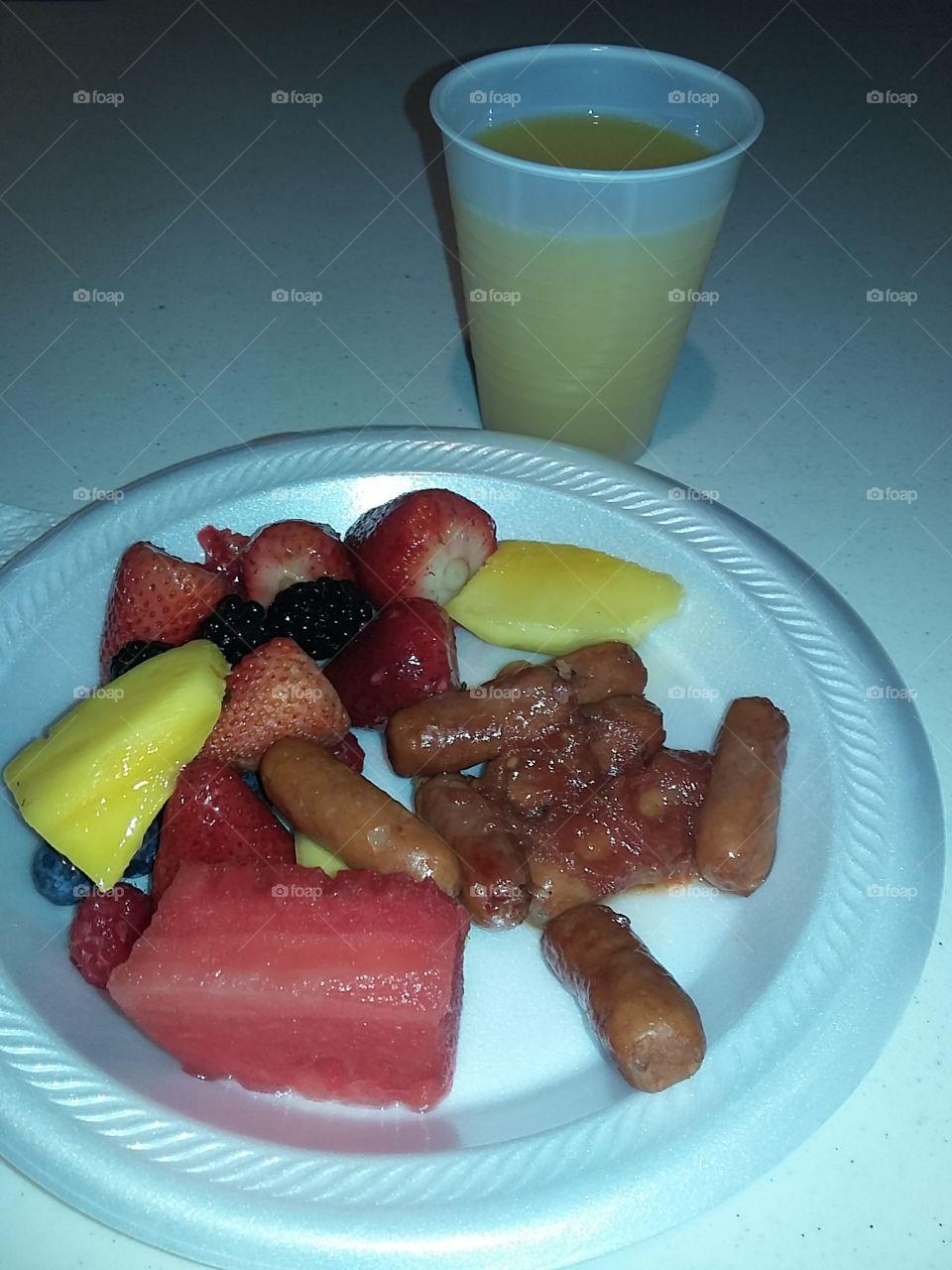 Church breakfast.