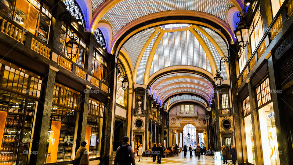 Gallery in Turin in Italy