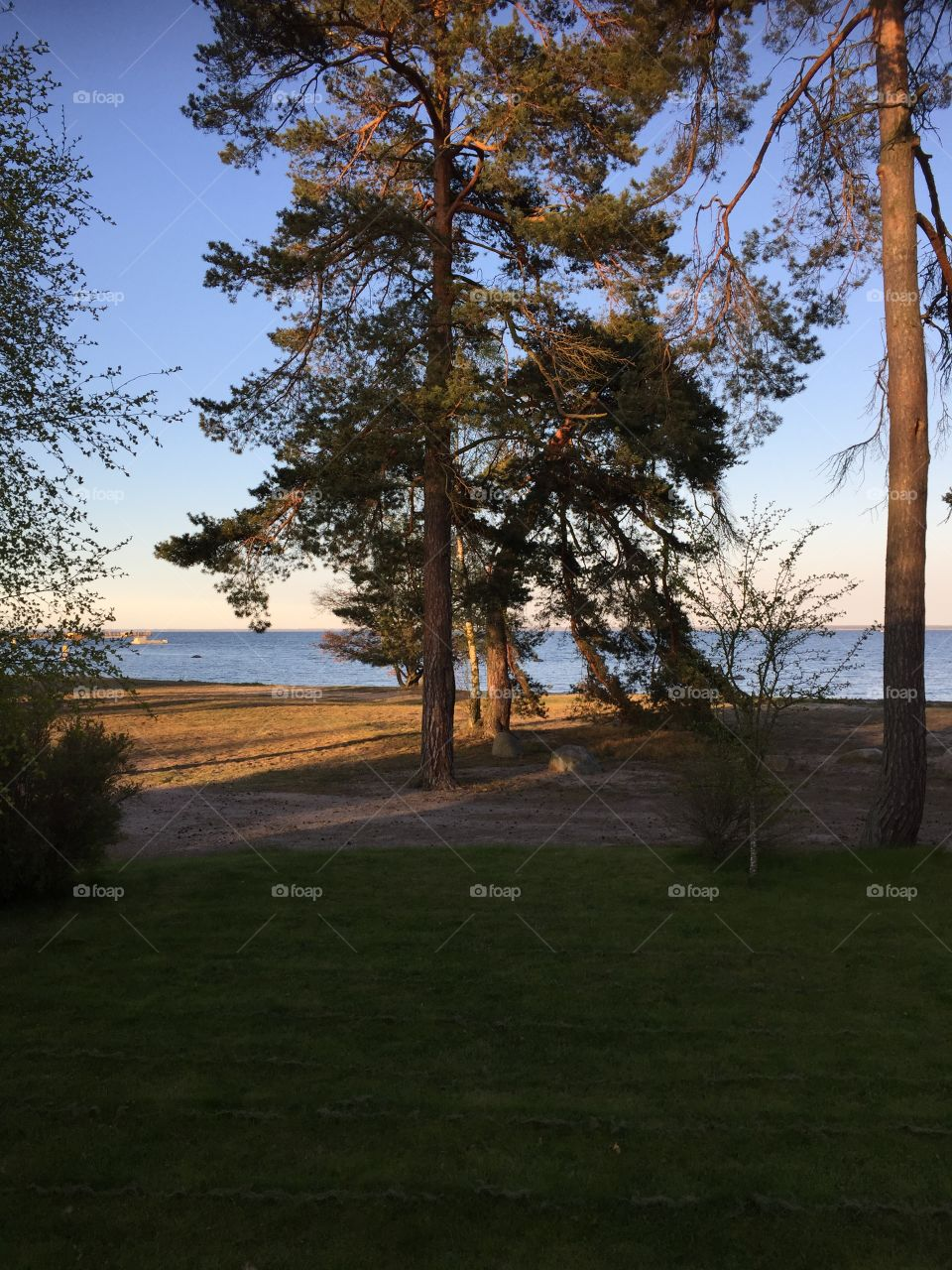 Beautiful evening Vita Sand, Kalmarsund, Sweden