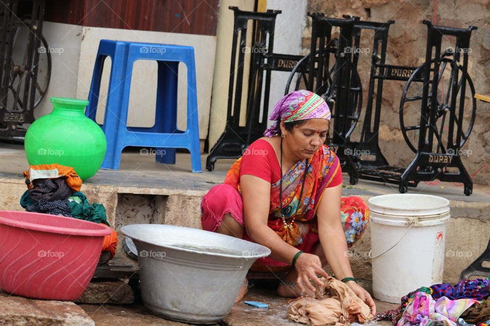 People, Bucket, Container, Market, Pottery