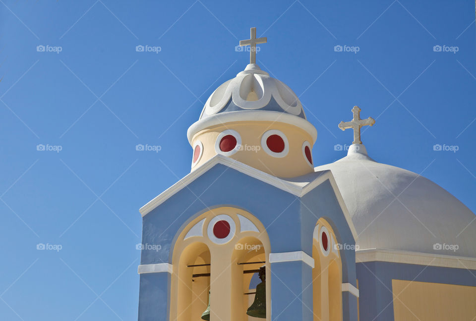 Pastell colored church.