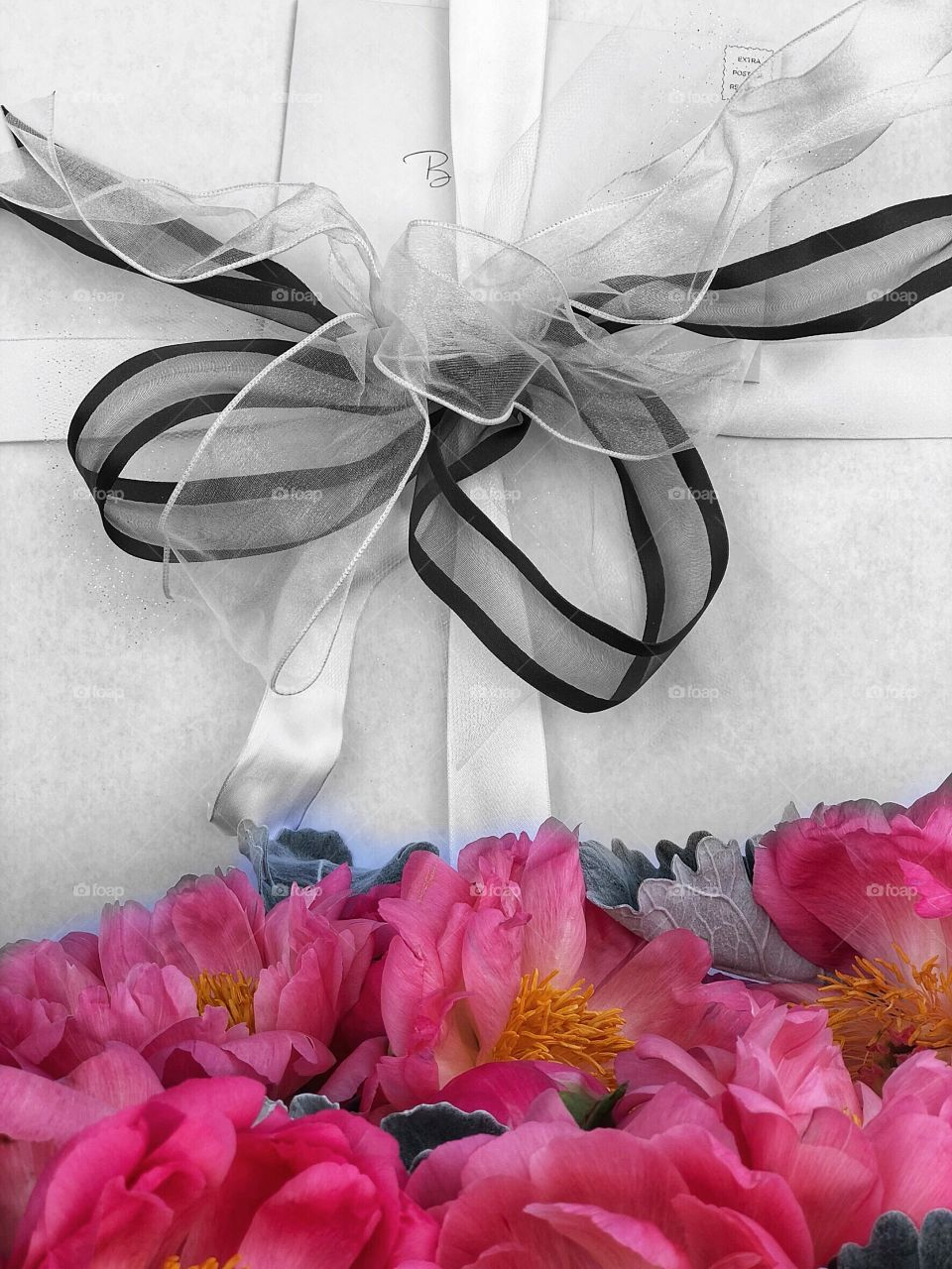 Wedding Gifts Peonies Black and White!