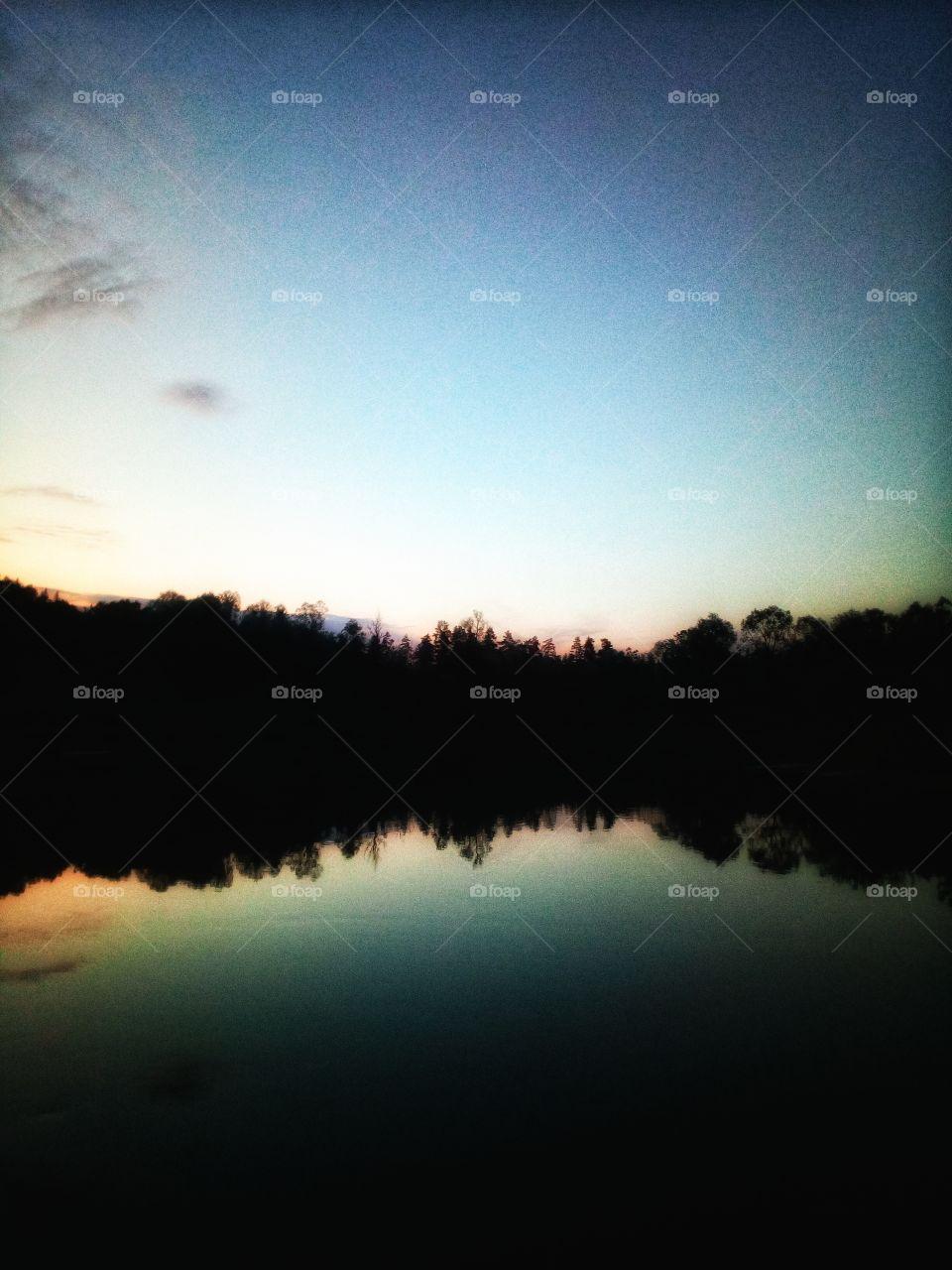 Evening. Summertime. River.