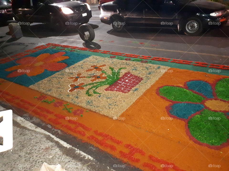 alfombra catolica