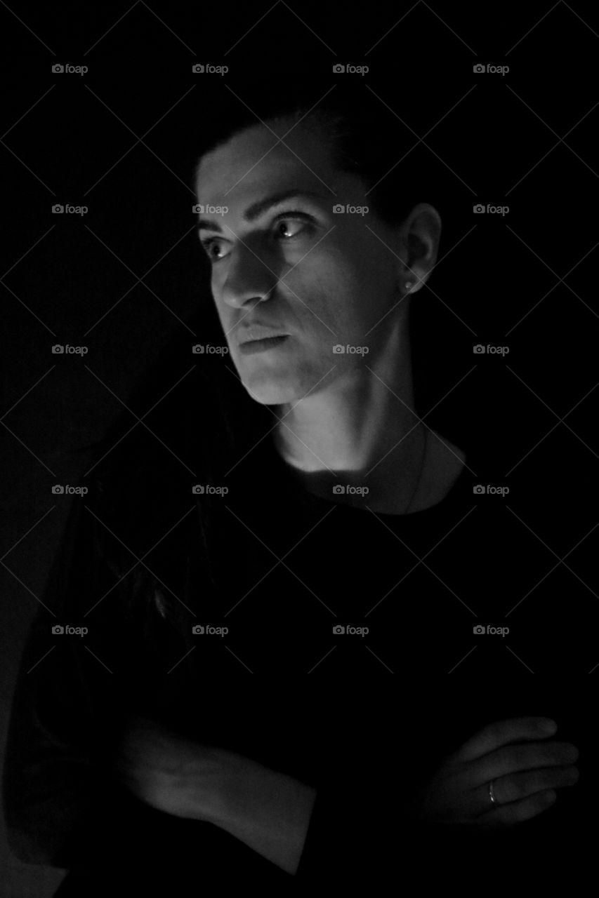 #portrait #black and white #women #profile