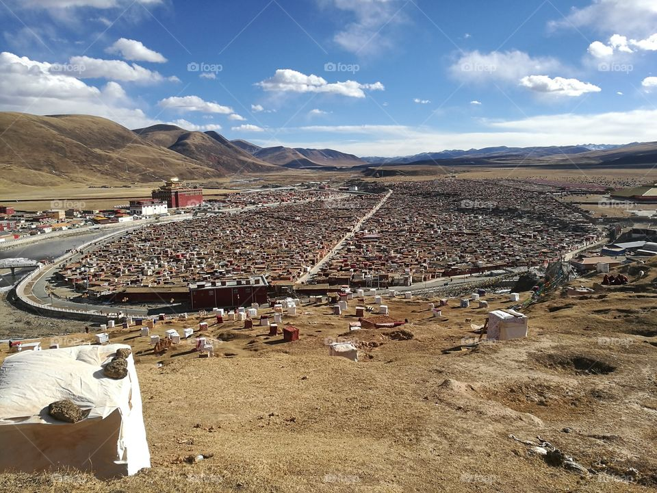 Yaqing Tibetan Buddhist Monastery for Nuns  Buddhism School and Monastery in Ganzi, Sichuan Province, China