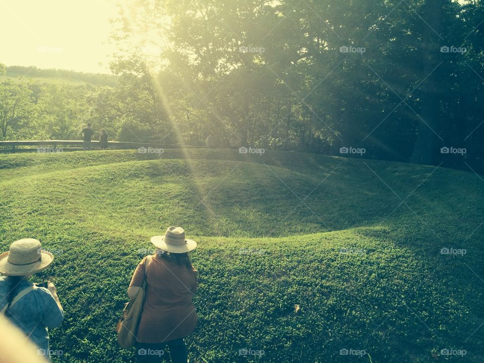 Tail (coil) of Serpent Mound (earth effigy) sacred area in Peebles, ohio. On summer solstice 2014.