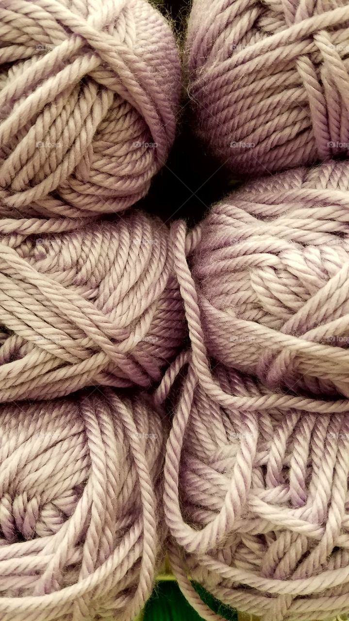 Background of rope coils