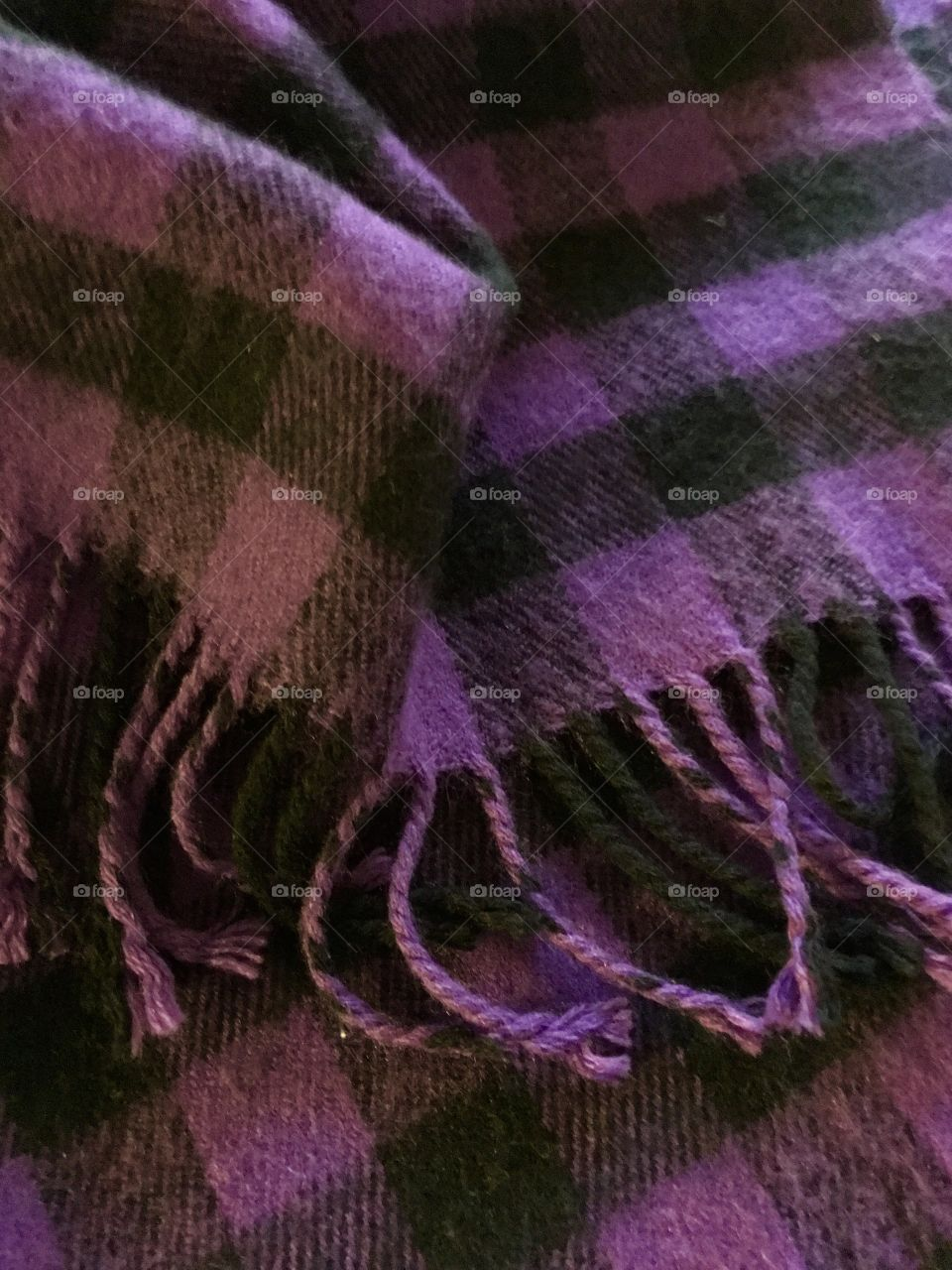 Close-up of woolen scarf