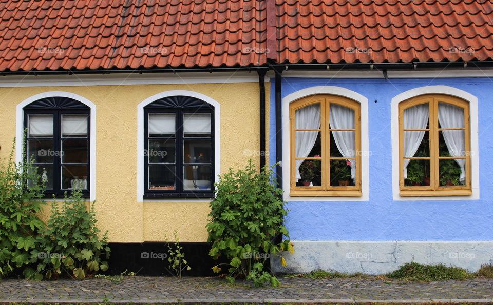 Windows in Simrishamn.